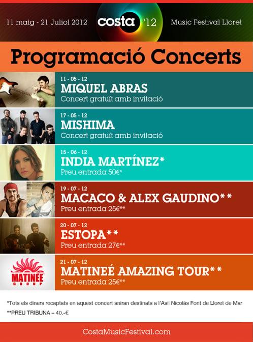 Programación COSTA Music Festival
