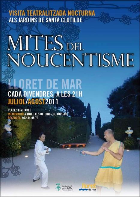 Mites del noucentisme, visita teatraliza en los Jardines de Santa Clotilde, Lloret de Mar